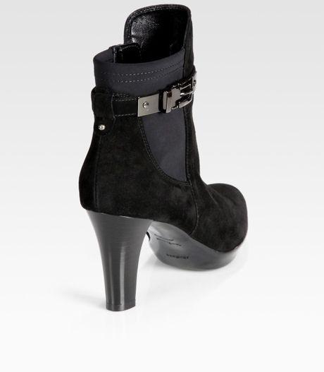 Aquatalia By Marvin K Middleton Suede Platform Ankle Boots