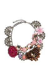 Asos Premium Jewelled Flower Collar Necklace