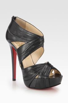 Christian Louboutin Bandra Leather Platform Sandals - Lyst