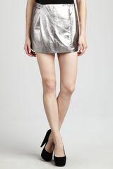 Diane Von Furstenberg Lolita Metallic Leather Skirt - Lyst