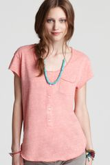 Free People Tee Ex Boyfriend in Blue (hot poppy heather) - Lyst