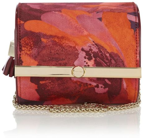 Karen Millen Feminine Print Mini Box Bag in Multicolor (multi-coloured) - Lyst