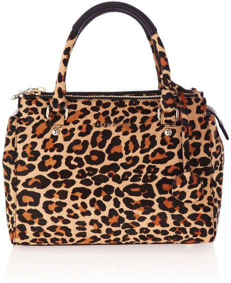 Karen Millen Small Tote Bag in Animal (multi-coloured) - Lyst