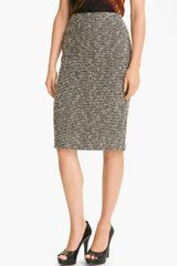 Lafayette 148 New York Bijoux Slim Tweed Skirt - Lyst