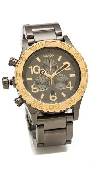 Nixon The Hudson St 4220 Chrono Watch in Gold