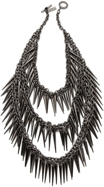 Robert Rodriguez Multi Layered Spike Necklace - Lyst
