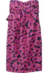 See By Chloé Strapless Floral Print Silk Dress - Lyst