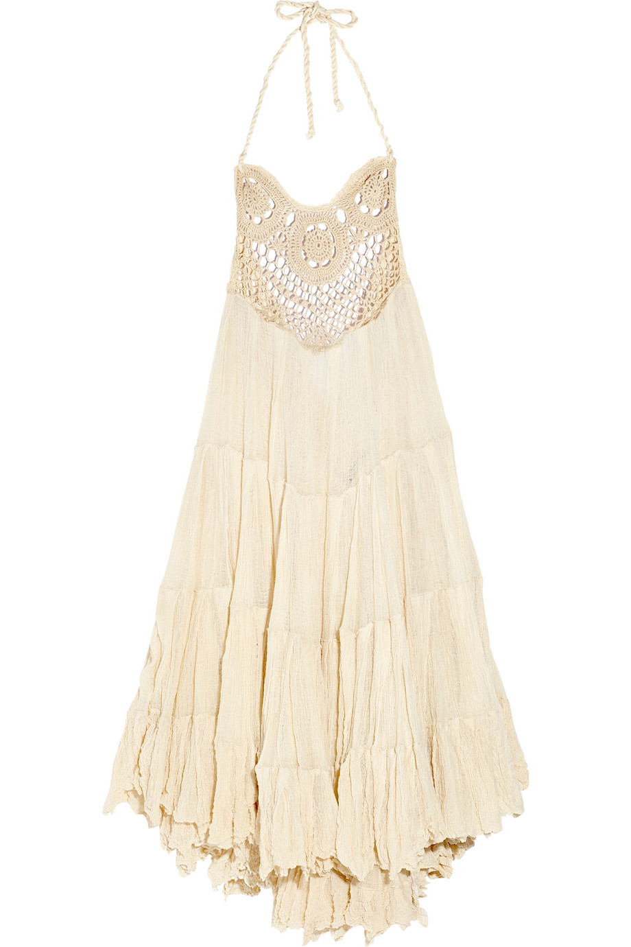 Lyst Sestra Moja Waterfall Cotton Cheese Cloth Dress In