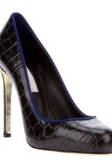 Stella Mccartney Snakeskin Embossed Pump in Black - Lyst
