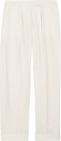 Stella Mccartney Tailored Wool Pants in White