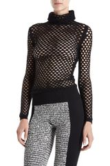 Alexander Wang Fishnet Turtleneck Sweater - Lyst