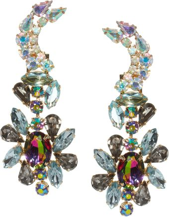 Asos Jewelled Moon Doorknocker Earrings with Detachable Stud - Lyst