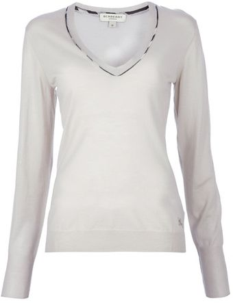 Burberry V-neck Top - Lyst