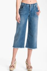Citizens Of Humanity Fusion Cutoff Wide Leg Crop Jeans - Lyst