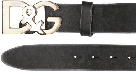 Dolce & Gabbana 35cm Washed Leather Belt in Black for Men - Lyst