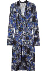 Erdem Megan Printed Jersey Dress - Lyst