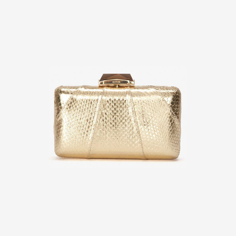666f63f7258 KOTUR Preorder Espey Gold Minaudiere Clutch in Metallic - Lyst