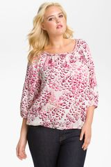 Lucky Brand Mcgraw Peasant Top - Lyst