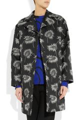 Marni Structured Duchess satin Coat in Black - Lyst