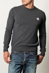 Moncler Logo Badge Sweater - Lyst