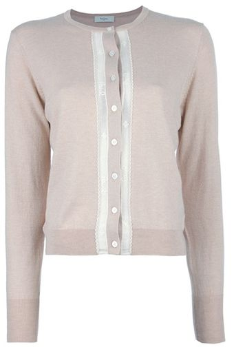 Paul Smith Lace Trimmed Cardigan - Lyst