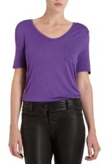 T By Alexander Wang Classic Short Sleeve Pocket Tee - Lyst