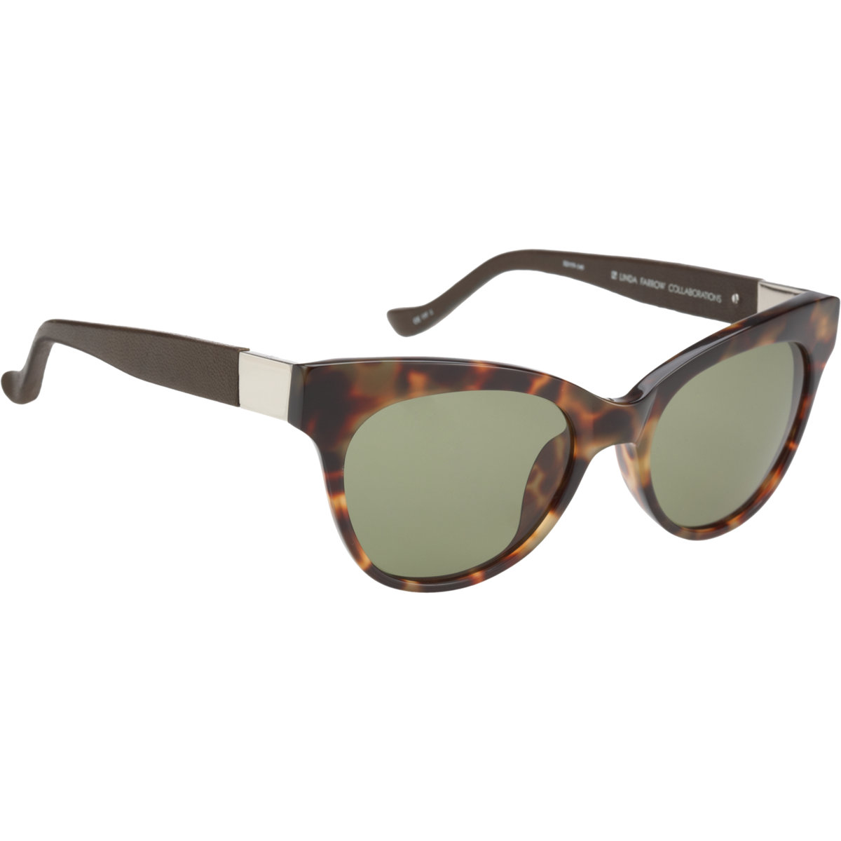 the row leatherwrapped cat eye sunglasses in green lyst