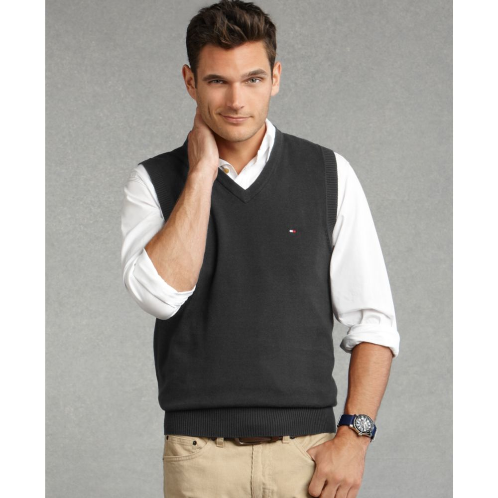 Tommy hilfiger Taft Sweater Vest in Gray for Men | Lyst