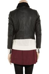 Vanessa Bruno Athé Leather Biker Jacket in Black - Lyst