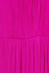 Willow Draped Silk Tulle Dress in Pink (magenta) - Lyst