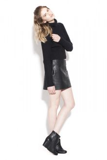 Alexander Wang Leather Mini Skirt - Lyst