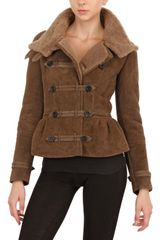 Burberry Prorsum Shearling Fur Coat - Lyst