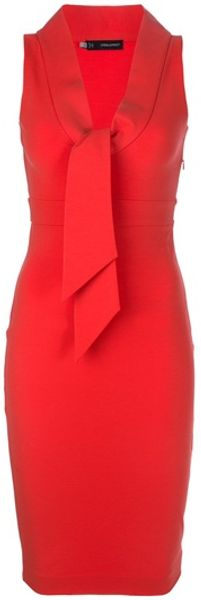 DSquared2 Scarf Detail Dress - Lyst