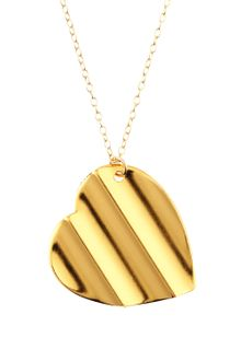 Gorjana Ridged Heart Necklace - Lyst