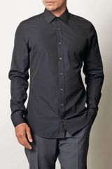 Gucci Solid Slim Fit Shirt - Lyst
