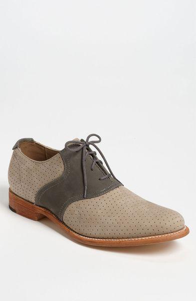 jd fisk jd fisk nikko saddle shoe in gray for bone