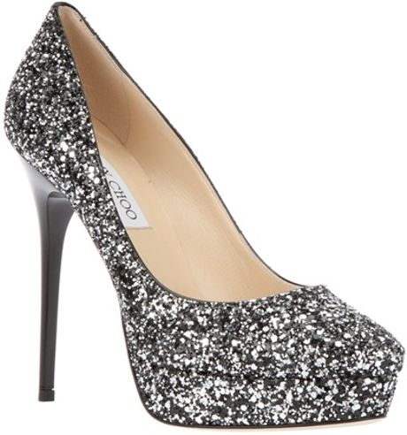 Jimmy Choo Cosmic Pump in Silver - Lyst