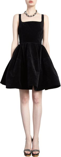 Lanvin Velvet Tank Dress - Lyst
