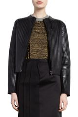Lanvin Vertical Panel Jacket in Black - Lyst