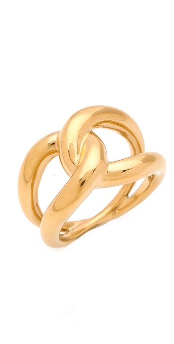 Michael Kors Love Knot Ring Gold