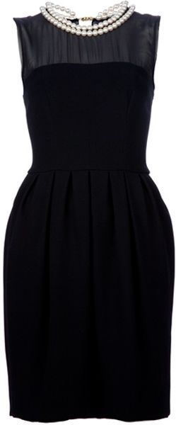 Moschino Cheap & Chic Sweetheart Dress in Black - Lyst