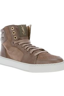 Yves Saint Laurent High Top Sneaker - Lyst