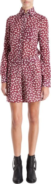 10 Crosby by Derek Lam Kitty Print Double Collar Romper - Lyst