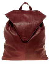 Asos Leather Backpack with Pointed Flap