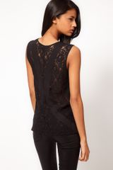 ASOS Collection Asos Vest with Lace Back - Lyst