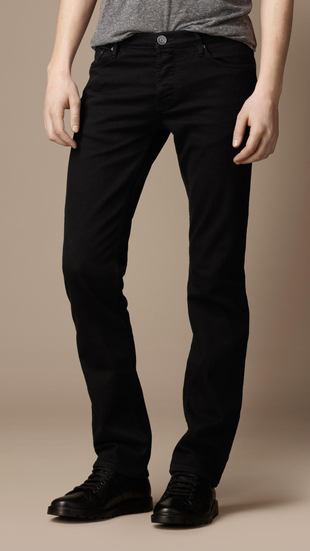 Slim Black Jeans - Jeans Am