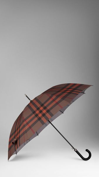 Burberry Check Walking Umbrella in Brown (dark sable check) - Lyst