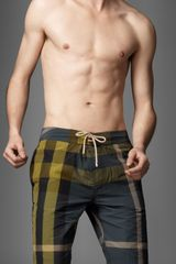 Burberry Check Swimming Shorts - Lyst
