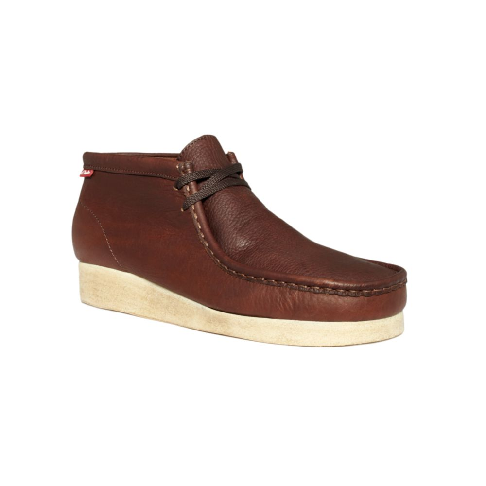 clarks padmore chukka boots in brown for lyst