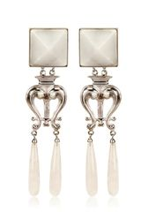 Delfina Delettrez Romantic White Earrings